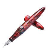 Penna stilografica in resina rossa con pennino EFF Classic Penna regalo per ufficio di scuola di lusso di lusso