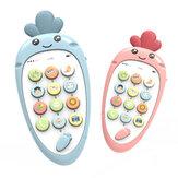 Wortel Leuk Patroon Kindermuziek Vroeg educatief Elektronische intelligentie Speelgoed met geluidseffect Mini-telefoon