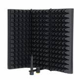 3 Plate Adjustable Foldable Microphone Isolation Shield Studio Recording