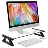 Aluminium Alloy Monitor Laptop Stand Desk Riser dengan 4 Port USB untuk Laptop Komputer iMac MacBook