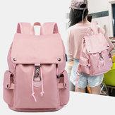 HomensMulheresNylonWaterproofFashionAnti-Theft Backpack