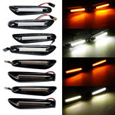 LED Side Marker Lights Turn Signal Lamps White/Yellow Pair For BMW E46 E60 E82 E88 E90 E92 E93