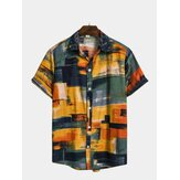 Mens Fashion Plaid gedruckt Colorful Stehkragen Shirts