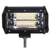 5 İnç 72W LED İş Işığı Bar Strobe Flash Lamba Beyaz Amber Off-road SUV ATV için