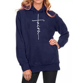 Embroidered Plus Size Hoodie Sweatshirts