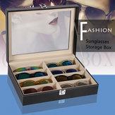8 شبكة النظارات حالة النظارات النظارات الشمسية عرض صندوق تخزين حامل المنظم