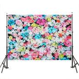 3x5FT 5x7FT Vinile Rosa Blue Rose Wall Photography Sfondo Sfondo Studio Prop