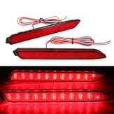 2Pcs LED Rear Bumper Reflector Brake Lights Tail Lights Red Lens For Toyota IS-F GX470 RX300