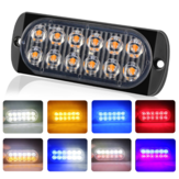 Ultra-thin 12LED Side Strobe Lights 36W Flash Lamp Aluminum Housing 7 Colors 12-24V for Pickup Truck Motorcycle