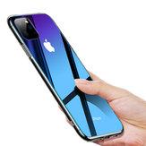 CafeleGradientцветЗакаленноестекло+ Soft Силиконовый Край Защитный Чехол для iPhone 11 6.1 дюймов