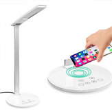USB LED Desk Lamp Table Qi Wireless Charger Reading Touch Light Adjustable for Qi-enabled Smart Phone