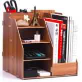Forniture per ufficio Cestini portaoggetti desktop Scatola Cassetto Porta libri in legno Scaffale creativo Informazioni sul file Scaffale di cancelleria