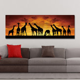 DYC 10672 Single Spray Oil Paintings Giraffe Sunrise Landscape For Home Decoration Paintings Wall Art