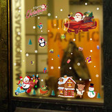 Miico SK9245 Christmas Sticker Cartoon Animals Wall Stickers Removable For Christmas Decoration