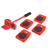 5Pcs Red Furniture Mover Heavy Duty Lifter Mover Transport Set Furniture Roller Tool