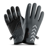 Mens Winter Thermal Fleece Lined Gloves Touchscreen Waterproof Windproof Reflective Skiing Cycling Mitten
