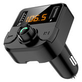 Bakeey 3.1A Dual USB Digital Display bluetooth FM Transmitter Fast Charging Car Charger For iPhone XS 11 Pro Huawei P30 Mate 30 Xiaomi Mi9 9Pro