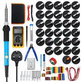 379Pcs 60W Electric Solder Iron Kit Welding Tool Solder Repair Screwdriver Plier Multimeter