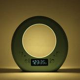 Multifunktions Moon Tischlampe Nachtlicht Display Zeit Neuheit Beleuchtung Wake Up