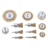 Drillpro 12Pcs Wire Wheel Brush Cup Wire Brush Set 6mm Shank For Removal of Rust/Corrosion/Paint-Reduced