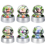 50mm 3D Lamp Crystal Ball LED Night Light For Pokemon Pikachu 6 Pattern