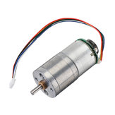 Machifit 12V GM25-310 30/70/100/500rpm DC Encoder Gear Motor Metal Speed Reduction Motor with Cable
