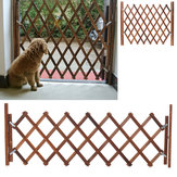 Folding Wood Baby Gate Fence Safety Protection Pet Dog Barrier Standing Door