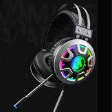 Luminescencyjne RGB 3,5 mm Audio Jack Przewodowe słuchawki do gier Stereofoniczny zestaw słuchawkowy z kablem audio z mikrofonem LED