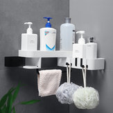 Bathroom Shelf Rack Toilet Free Punching Storage Rack Plastic Self-adhesive Wall Hanging Triangle Rack