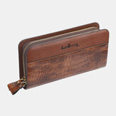 Baellerry Men Faux Leather Phone Bag Wallet Clutches Bag