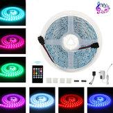 5M DC12V 5050 Dimmerabile Music Control RGB LED Strip Light TV Retroilluminazione + 20 tasti remoto Controllo per la decorazione domestica