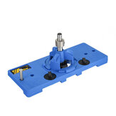 35mm Blue Cup Style Round Hinge Jig Drill Guide Cabinet Door Hole Locator for Woodworking