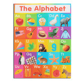 ABC Alphabet Learn Carta educativa per bambini Poster di stoffa di seta educativa