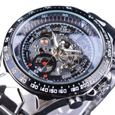 Forsining S107 Fashion Men Watch 3ATM Waterproof Luminous Display Automatic Mechanical Watch