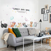 Miico SK7184 Hand-Painted Cat Wall Sticker Children's Room Kindergarten Decorative Stickers DIY Sticker