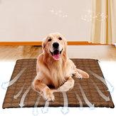 Pet Dog Cat Summer Cooling Mat Bed Fiber Mats Chilly Anti-skid Cushion Self Cooling Mattress Straw Cushion