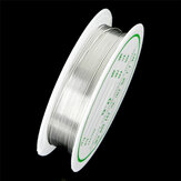 2-1.0mm Craft Beading Wire Silver Copper Wire For Bracelet Necklace Jewelry DIY Accessories