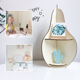 Wooden Rack Pear-shaped Racks Display Craft Shelf Home Decorations Nordic Style Gift