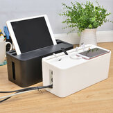 Cable Storage Box Case Wire Management Power Plug Cord Socket Safety Desktop Organizer