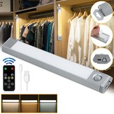 60 LED USB recarregável Motion Sensor Closet Light Wireless Under Cabinet Lamp