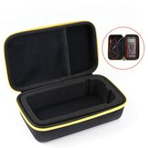 Black EVA Hard Carrying Case Storage Waterproof Shockproof Carry Bag with Mesh Pocket for Protecting F117C/F17B Digital Multimeter