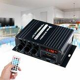 AK370 400W DC 12V / AC 220VリモコンブルートゥースHiFiホームカーステレオアンプ音楽受信機FMラジオ20Hz-20KHz