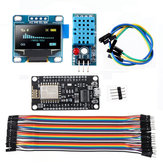 5pcs WiFi ESP8266 Starter Kit IoT NodeMCU Wireless I2C OLED Display DHT11 Temperature Humidity Sensor Module Geekcreit for Arduino - products that work with official Arduino boards