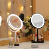 Portable 360 ° Rotaty 14 LED Miroirs de maquillage légers Vanity Table Lamp Écran tactile