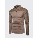 Casual Lapel Long-sleeved Golf Shirt