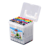 1 Piece 12/24/36/48/60 Colors Marker Pens Set Double-headed Marker Pen Hand-painting Artist Marker Pens Gifts for Kids Childrens