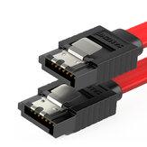 SAMZHE 3UX-05B 3Gbps SATA 2.0-SATA-Datenkabel von Stecker zu Stecker, gerade zu gebogen / gerade