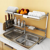 Stainless Steel Kitchen Shelf Rack Plate Dish Rack Drying Drain Storage Holders
