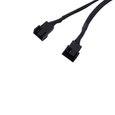 27cm 4Pin 1 to 2 Extension Cable PWM Temperature Control Cooling Fan Cable Power Adapter Cable Lead Wire