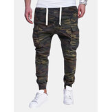 Camo Printed Multi-pocket Cargo Pants